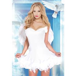 Halloween Costume, Cheap White Angel Costume, Sweet Angel Costume, Lovely Angel Costume, Beauty Angel Girls Costume, #N14720