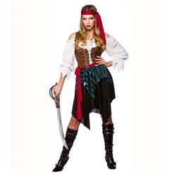 Sexy Pirate Costume, Deluxe Halloween Costume, Pirates Fancy Dress Costume, Cheap Women's Pirate Costume, Pirate Adult Costume, #N14743