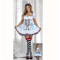Alice In Woodland Costume, Deluxe Alice Costume, Womens Sexy Alice Costumes, Rebel Alice Fancy Costume, Storybook Cosplay Costume, #N14744