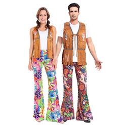 1960's Hippie Costume, Couple Vintage Costume, Hippie Adult Costume, Adult Peace & Love Hippie Costume, Couples Hippie Costume, #N14755