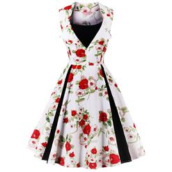 Retro Dresses for Women 1960, Vintage Dresses 1950's, Vintage Dress for Women, Sexy Dresses for Women Cocktail Party, Casual Tea Dress, Swing Dress, Floral Print Dresses,#N14859