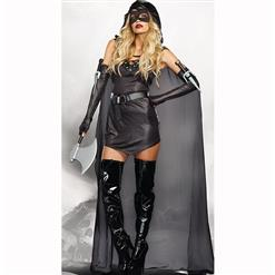 Women's Halloween Party Costume, Women Warrior Costume, Assassin Cosplay Outfits, Black Killer Costume, Warrior's Costume for Wowen, #N14980