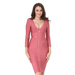 Club Dress For Women, Sexy Dresses For Women, Cut Out Bandage Dresses, Bandage Bodycon Party Dress, Pink Bandage Dress, Sexy Bandage Party Dress, #N15133