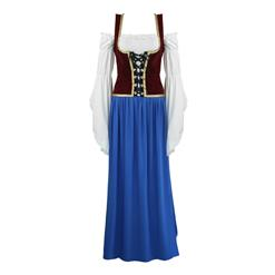 Women's 4 Piece German Beer Girl Bar Maiden Cosplay Oktoberfest Party Costume N16008