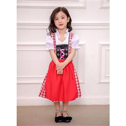 Girl's Oktoberfest Costume, Girl's Lovely Maid Cosplay Costume, Classic Oktoberfest Performance Costume, Lovely Masquerade Costume for Girl, Gril's Oktoberfest Dress with Apron, #N16283