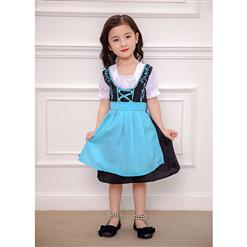 Girl's Oktoberfest Costume, Girl's Lovely Maid Cosplay Costume, Classic Oktoberfest Performance Costume, Lovely Beer Girl Costume for Girl, Gril's Oktoberfest Dress with Apron, #N16284