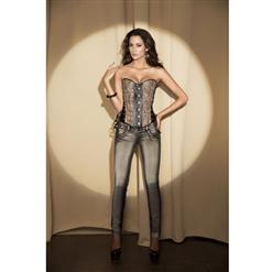corset with lace-up accented front N1668