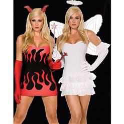 Sexy Fairy Costumes, Angel Costumes,Heavenly Angel Halter Dress with Curly Mesh,#N1704