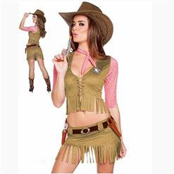 Adult Halloween Costumes, Sexy Cowboy Girl Costume, Cowboy Girl Masquerade Costume, Cowboy Girl Halloween Cosplay Adult Costume, #N17740
