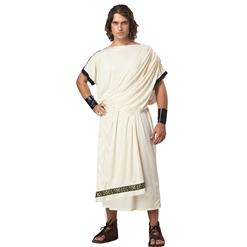 Beige Toga Costume, Greek Toga Halloween Costume, Grecian Toga Adult Costume, Men's Olympic Cosplay Costume, Toga Roman Adult Costume, #N17745