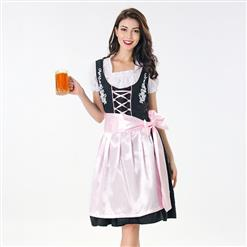 Oktoberfest Cheer Costume, Women's Beer Girl Costume, Bavarian Beer Girl Costume, Traditional Bavarian Girl Costume, Oktoberfest Fraulein Dress Costume, #N18042