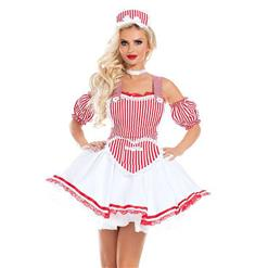Traditional House Maid Costume, French Maide Costume, 5 Pieces Maiden Cosplay Costume, Sexy French Maid Costume, Halloween Maid Cosplay Adult Costume, #N18181