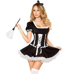 Traditional House Maid Costume, French Maide Costume, Sexy Maiden Cosplay Costume, Sexy French Maid Costume, Halloween Maid Cosplay Adult Costume, #N18182