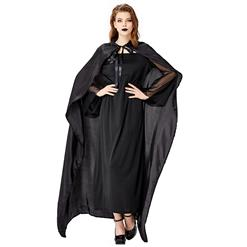 Black Ghost Bride Role Play Costume, Classical Adult Vampire Halloween Costume, Deluxe Ghost Bride Dress Costume, Vampire Bride Masquerade Costume, Ghost Bride Halloween Adult Cosplay Costume, #N18200