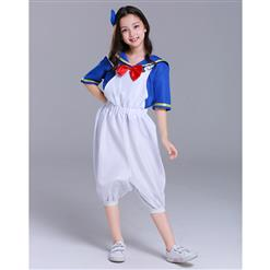 Sailor Costume, White Sailor Costume, Retro Sailor Cosplay Costume, Classical Style Sailor Role Play Costumes, Sailor Cosplay Set, Sailor Parentage Clothes, The Parent-child Attire, #N18305