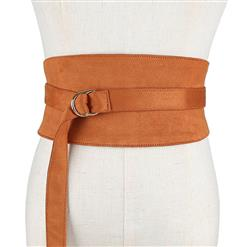 Camel Wasit Belt, High Waist Cinch Belt, Alloy Buckle Elastic Wasit Belt, Wide Waist Cincher Belt Camel, Elastic Wide Waistband Cinch Belt, Elastic Waist Cincher Belt for Women, #N18446