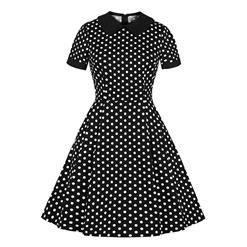 Cute Swing Dress, Retro Dresses for Women 1960, Vintage Dresses 1950's, Plus Size Summer Dress, Vintage Dress for Women, Sexy Polka Dots Swing Dresses for Women, Vintage Spring Dresses for Women, #N18700