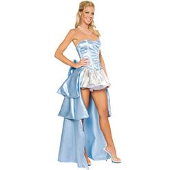 Deluxe Midnight Princess Costume, Blue Princess Costume, Slipper Princess, #N4002