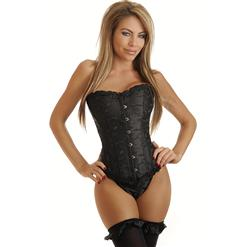 Sexy corset, embroidered corset, Steel Boning corset, #N4228