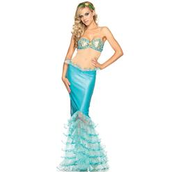 Mystical Mermaid Costume, Blue Mermaid Costume, Blue Fish Costume, Arial The Mermaid Costume, Arial Mermaid Costume, #N4414