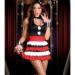 Sexy Cirque Costume, Sexy Clown Costume, Ladies Circus Costume, Clown Halloween Costume, #N4460