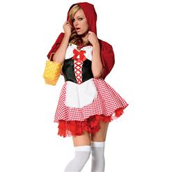 Red Riding Hood Costume, Little Red Riding Hood, Adult Red Riding Hood Costume, #N4512