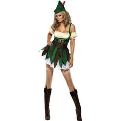 Fever Sexy Outlaw Costume, Fever Fancy Dress, Racy Robin Hood Costume, #N4567