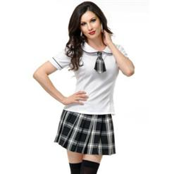 School Girl Costume, Darque School Girl Costume, Gothic School Girl, #N4569