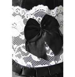 Sexy Black Gothic Victorian Vintage Lace Splicing Underbust Corset N4673