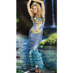 Sea Queen Costume, Sea Goddess Costume, Green Mermaid Costume, #N4760