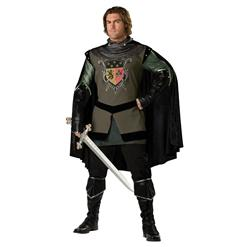 Knight Costumes, Super Deluxe Dark Medieval Knight Costume, Men's Knight Costume, #N4874
