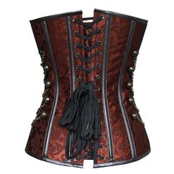 Brown Steel Boned Steampunk Corset N5177