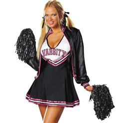 Varsity Cheerleader Costume, Deluxe High School College Sports Cheerleader Costume, Sports Cheerleader Costume, #N5567