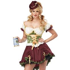 Adult Beer Garden Girl Costume, Adult Beer Costume, Beer Woman Costume, #N5577