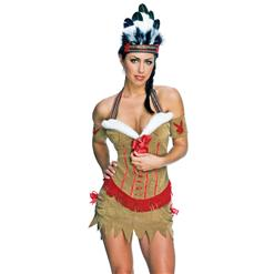 Playboy Native American Princess Costume, Sexy Native American Princess Costume, Native American Princess Halloween Costume, #N5620