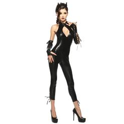 Black Panther Costume, Black Catsuit Costume, Black Animal Halloween Costume, Black Panther Halloween Costume, #N5677