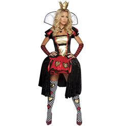 Deluxe Queen Of Hearts Costume, Wicked Wonderland Queen Costume, Wicked Wonderland Queen Of Hearts Costume, #N5849