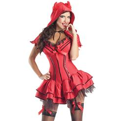 Deluxe Devil Costume, Devil Body Shaper Costume, Devil Corset Costume, #N5909