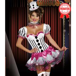 Cirque Du Sexy Costume, Black and White Harlequin Costume, Black and White Clown Costume, #N5940