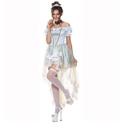 Adult Deluxe Elegant Sexy Overbust Palace Hi-Lo Princess Role Play Fancy Ball Costume N5976