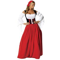 Swiss Miss Oktoberfest Costume, Swiss Miss Costume, German Beer Girl Wench Oktoberfest Costume, #N5979