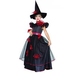 Witch Girl Costume, Elegant Witch costume, Girl Halloween Costume, #N5984