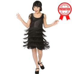 Flapper Child Halloween Costume, Girls Black Flapper Costume, Flapper Black Girls Kids Entire Costume, #N5992