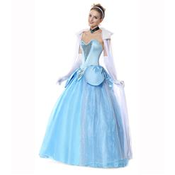 Deluxe Celeste Adult Overbust Princess Maxi Dress Fancy Ball Theatrical Cosplay Costume N6185