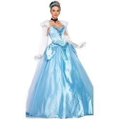 Deluxe Princess Costume, Deluxe Princess Cosplay Costume, Princess Costume, Adult Pantomime Costume,#N6185