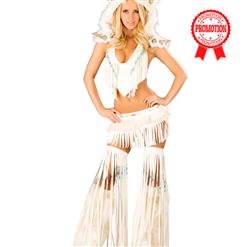 Deluxe Sexy White Indian Costume, Sexy White Native American Costume, #N6204
