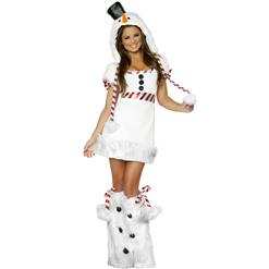 Sexy Snowman Costume, Snow Man Costume, Snowman Outfit, Christmas Costume, #N6356