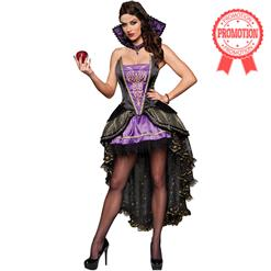 Deluxe Evil Queen Costume, Deluxe Purple Queen Costume, Snow White Evil Witch Costume, #N6382