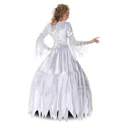 Deluxe White Medival Palace Ghost Countess Adult Halloween Fancy Ball Cosplay Costume N6532