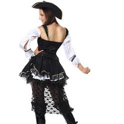 Women's Deluxe Gothic Lace Pirate Adult Holloween Costume N6676